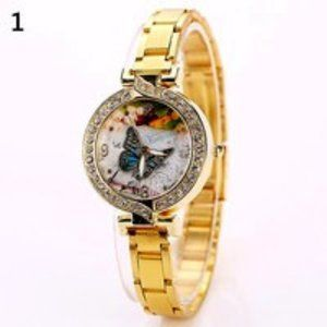 Beautiful Gold Butterfly Watch